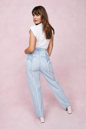 NASTY GAL Womens Plus Size Star Design High Waisted Jeans