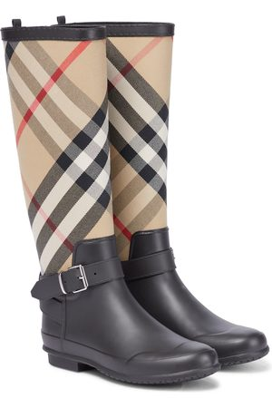 Burberry Women Boots - House Check rubber rain boots