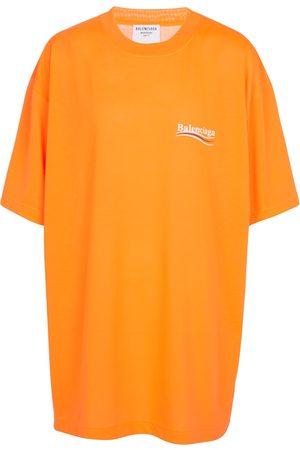 Balenciaga Logo oversized cotton jersey T-shirt