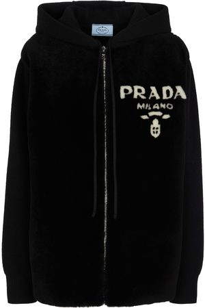 Prada Women Summer Jackets - Cashmere and shearling hoodie