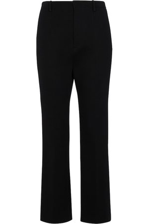 Saint Laurent Women Formal Trousers - Merino wool-blend straight pants