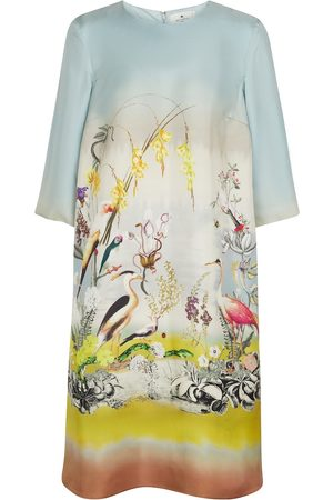 Etro Women Midi Dresses - Printed silk midi dress