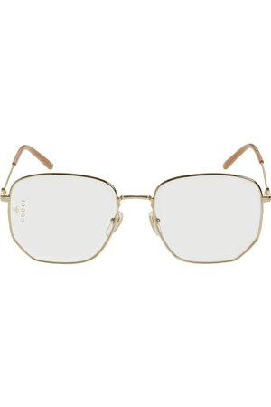 Gucci Gg0396s Squared Metal Optical Glasses