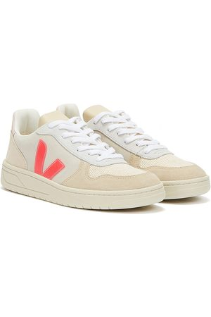 Veja Women Trainers - V-10 Suede Womens Multico / Natural / Rose Fluo Trainers