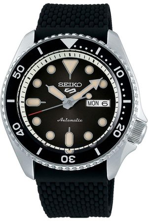 Seiko Men Watches - Sport Date Dial Silicone Strap Watch