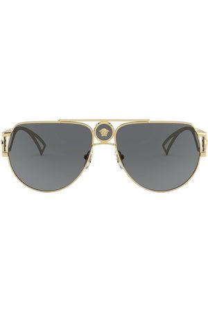 VERSACE Men Sunglasses - Medusa aviator-frame sunglasses