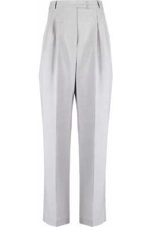 12 STOREEZ High-waisted wool-blend trousers