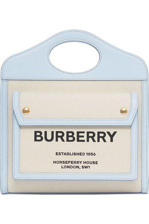 Burberry Mini Horseferry print pocket bag - Neutrals