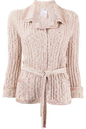 Chanel Pre-Owned Sequin-embellished tie-waist cardigan - Neutrals