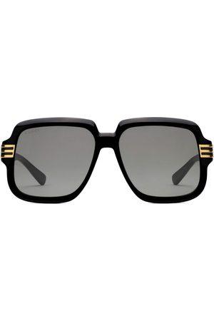 Gucci Logo print oversized-frame sunglasses