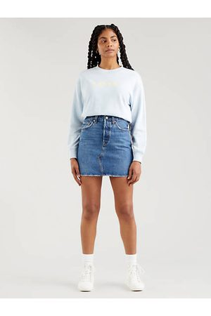 Levi's Women Mini Skirts - High Rise Deconstructed Iconic Skirt - Dark Indigo / Troy Tricks