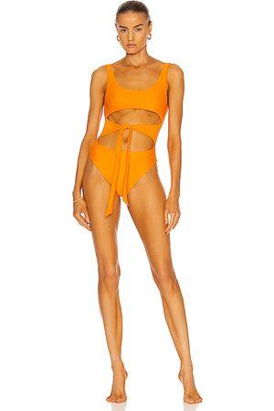 JADE SWIM Bond One Piece Swimsuit in Nectar