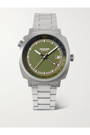 Bamford Men Watches - GMT Automatic 40mm Stainless Steel Watch