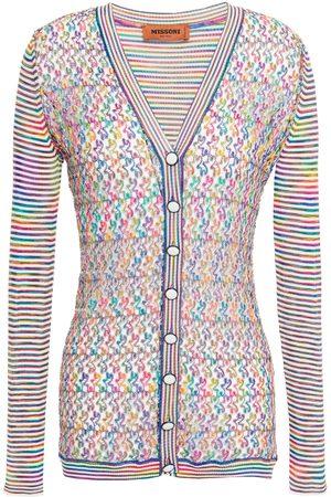 Missoni Woman Marled Crochet-knit Cardigan Multicolor Size 36