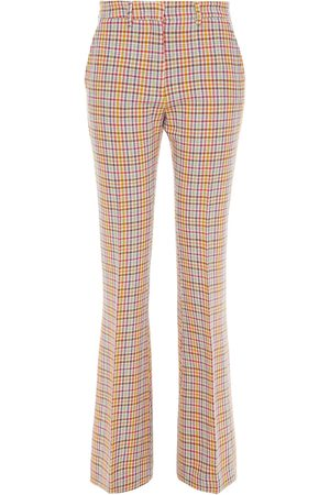 Etro Woman Checked Wool-tweed Flared Pants Multicolor Size 40