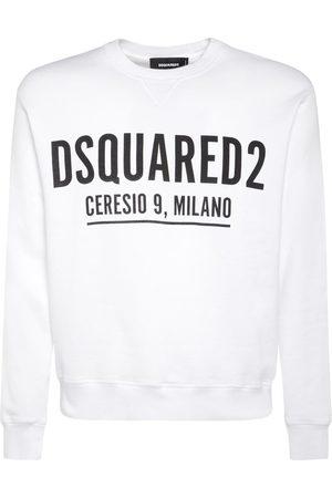 Dsquared2 Men Sweatshirts - Ceresio 9 Print Cotton Jersey Sweatshirt
