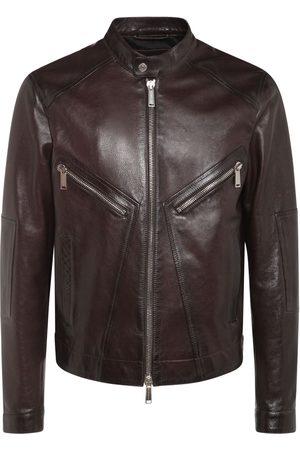Dsquared2 Men Leather Jackets - Leather Biker Jacket