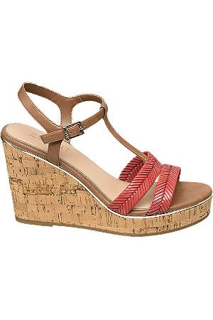 Esprit Brown and Wedge Sandals