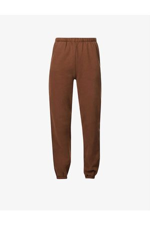 RE ONA Tapered mid-rise cotton-jersey jogging bottoms