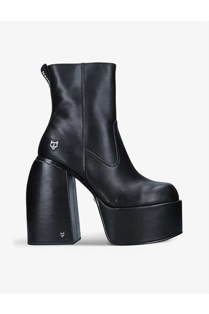Naked Wolfe Jailbreaker high-rise leather heeled boots