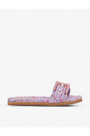 LK Bennett Women Sandals - Robyn buckle strap tweed sandals