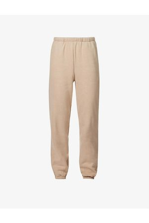 RE ONA Women Sports Trousers - Tapered mid-rise cotton-jersey jogging bottoms