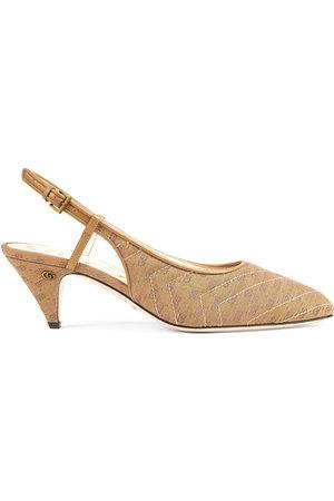 Gucci Women Heels - Double G slingback pumps - Neutrals