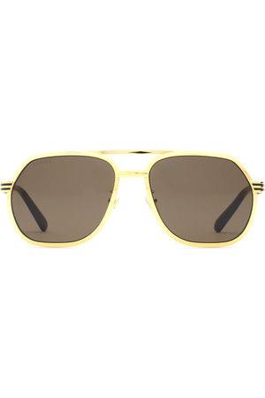 Gucci Double bridge navigator-frame sunglasses