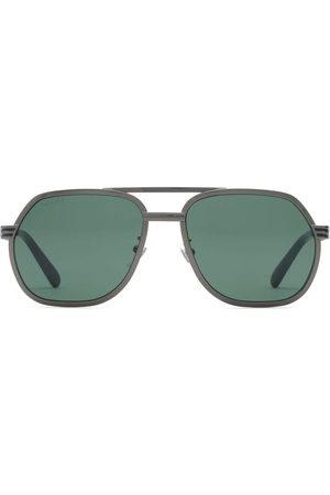 Gucci Double-bridge aviator-frame sunglasses