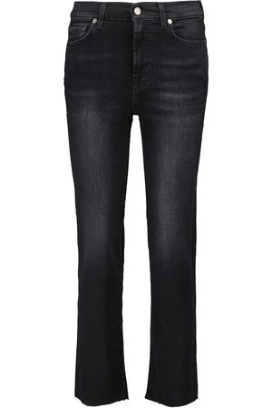 7 For All Mankind Women Straight - The Straight Crop mid-rise jeans