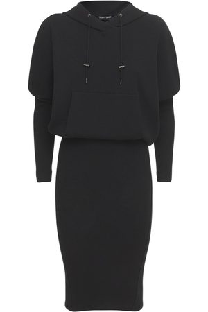 Tom Ford Stretch Cashmere Knit Hooded Dress