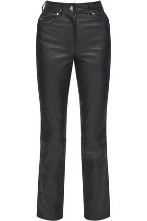 Saks Potts Rosita Embossed Leather Pants