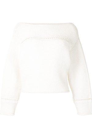 PROENZA SCHOULER WHITE LABEL Boat-neck cotton jumper