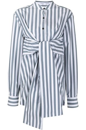 PROENZA SCHOULER WHITE LABEL Tied-waist long-sleeve shirt