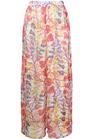 Missoni Sheer floral-print trousers - Neutrals