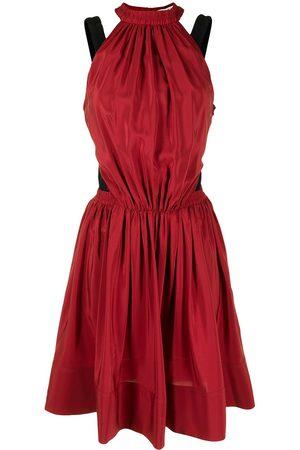 PORTS 1961 Women Dresses - Two-tone gathered silk dress