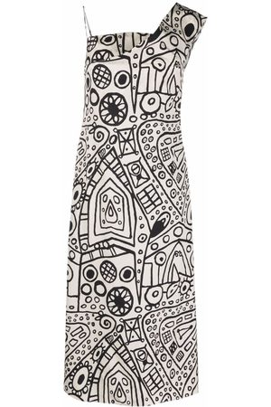 Colville Women Printed Dresses - Graphic-print one-shoulder dress