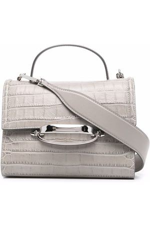 Alexander McQueen Women Shopper & Tote Bags - The Story embossed tote bag