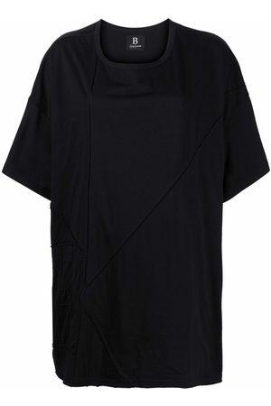 YOHJI YAMAMOTO Women Short Sleeve - Oversize exposed-seam T-shirt