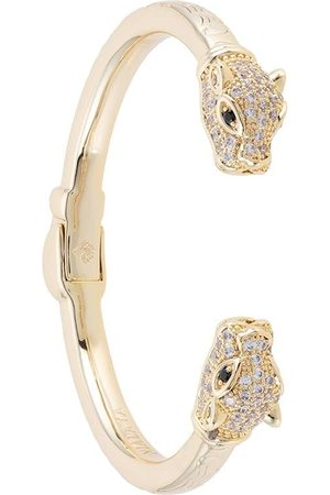 Nialaya Women Bracelets - Diamond embellished CZ Panther bangle