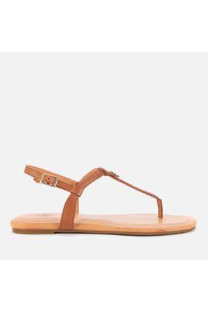 UGG Women's Madeena Leather Toe Post Sandals