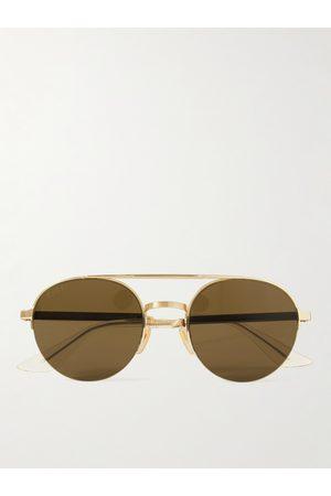 Gucci Aviator-Style -Tone Sunglasses