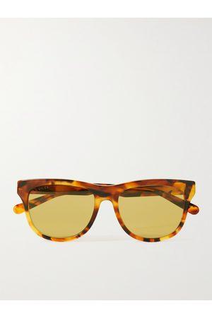 GUCCI D-Frame Tortoiseshell Acetate Sunglasses