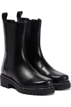 RENÉ CAOVILLA Bika embellished leather Chelsea boots