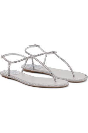 RENÉ CAOVILLA Women Sandals - Amalia embellished thong sandals
