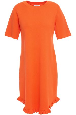 See by Chloé See By Chloé Woman Ruffle-trimmed Stretch-knit Mini Dress Size L