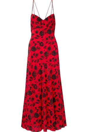 Les Rêveries Les Rêveries Woman Floral-print Silk Crepe De Chine Maxi Dress Size 10