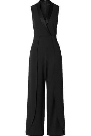 ALICE+OLIVIA Woman Bebe Satin-trimmed Crepe Jumpsuit Size 2