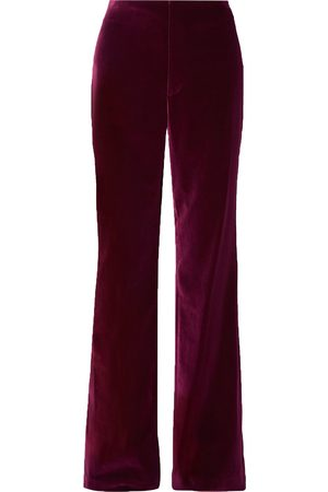 ALICE+OLIVIA Woman Lorinda Velvet Wide-leg Pants Plum Size 0