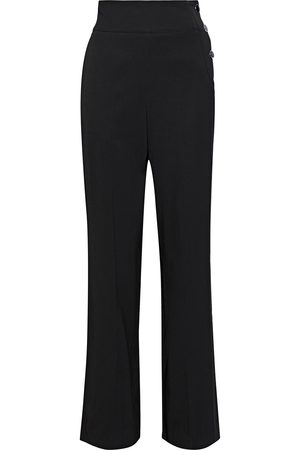 Roberto Cavalli Woman Button-detailed Piqué Wide-leg Pants Size 38